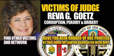 Los Angeles California Judge Reva G Goetz
