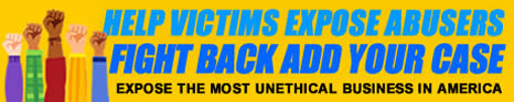 Help Expose your abuser add your case LOGO YELLOW