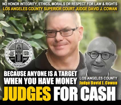 bradford Lund victim of los angeles superiour Court judge David J cowan