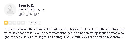 Lawyer Teresa Gorman Orange County Lawyer Probate fraud2