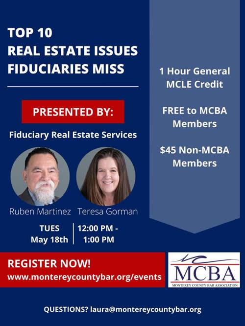 Ruben Martinez Teresa Gorman Fiduciary Real Estate Service