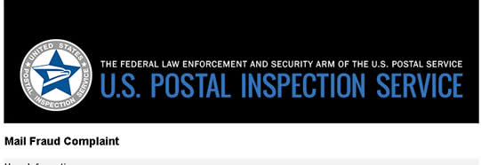 report Fiduciary the US Postal Inspector for mail fraud