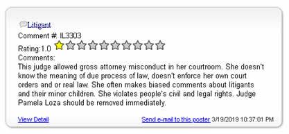 Judge Pamela E. Loza is a criminal