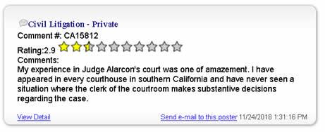 LOS ANGELES COUNTY SUPERIOR COURT JUDGE GREGORY W ALARCON