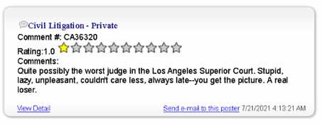 LOS ANGELES COUNTY SUPERIOR COURT JUDGEGREGORY W ALARCON