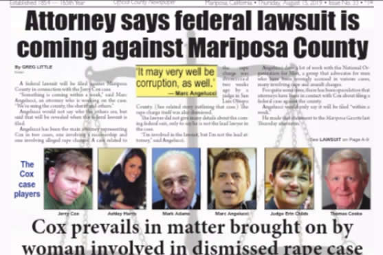 Federal Lawsuit coming against Corrupt Mariposa County Jerry Cox Mariposa County California Ashley K. Harris