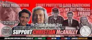 Help Christian McANALLY Richmond County Virginia Probate court abuse
